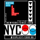 New york city/nyc Typography Design for t-shirt. Typography for t-shirt,vector illustration art,new design Royalty Free Stock Images