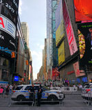 New York City, NYPD-Offiziere, Times Square, NYC, USA Lizenzfreie Stockbilder