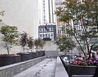 New York City, o 1º de julho: Terraço da torre do trunfo de Fifth Avenue em Manhattan de New York City no Estados Unidos Imagem de Stock