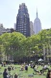 New York City, o 3 de agosto: Bryant Park de Manhattan em New York fotografia de stock