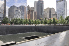New York City, o 2 de agosto: Memorial do ponto zero em Manhattan em New York City Fotos de Stock Royalty Free