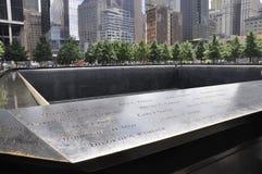 New York City, o 2 de agosto: Memorial do ponto zero em Manhattan em New York City Fotografia de Stock