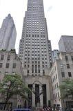 New York City, o 2 de julho: Centro de Rockefeller com a estátua do atlas em Manhattan de New York City no Estados Unidos Fotos de Stock Royalty Free