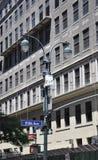 New York City, o 2 de julho: Quadro indicador com a Quinta Avenida em Manhattan de New York City no Estados Unidos Imagens de Stock