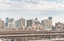 NEW YORK CITY - OCTOBER 22, 2015: City buildings and skyscrapers Stock Photography