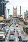 NEW YORK CITY - OCTOBER 24, 2015: Heavy traffic along Queensboro royalty free stock images