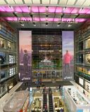 NEW YORK CITY - OCTOBER 24, 2015: Time Warner Center. The brand. Is a global leader in media and entertainment with businesses in television networks Royalty Free Stock Photos