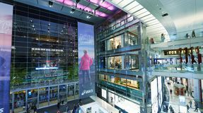 NEW YORK CITY - OCTOBER 24, 2015: Time Warner Center. The brand. Is a global leader in media and entertainment with businesses in television networks Stock Photos