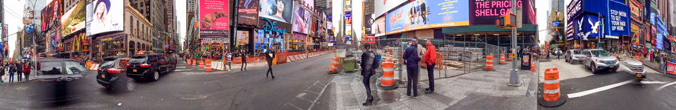 NEW YORK CITY - OCTOBER 2015: Tourists in Times Square. New York Royalty Free Stock Images