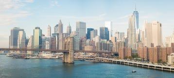 NEW YORK CITY - 22 OCTOBRE 2015 : Horizon de Lower Manhattan de M Photos stock