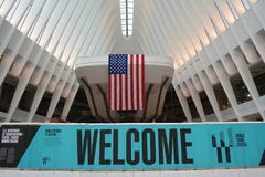 New York City. Oculus transportation hub on its first full day open to the public in Lower Manhattan Stock Photo