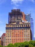 New york city office buildings glass exterior. Tall modern office buildings glass exterior  in New York street United states Royalty Free Stock Photos