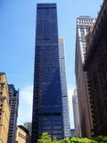 New york city office buildings glass exterior. Tall modern office buildings glass exterior  in New York street United states Stock Image