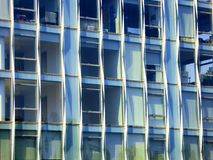 New york city office buildings glass exterior Royalty Free Stock Images