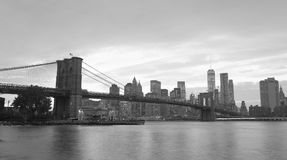 NEW YORK CITY - 25. OKTOBER 2015: Im Stadtzentrum gelegenes Manhattan von Brookl Stockbild