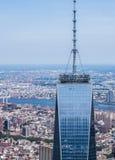 New York City - opinión del cielo de Freedom Tower Foto de archivo libre de regalías