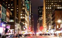 New York City på helgdagsafton för nya år arkivbilder