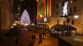 New York City på jultiden stock video