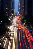 New York City på natten Royaltyfri Bild