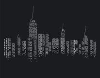 New York City på natten vektor illustrationer
