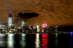 New York City på 4th Juli 201 Arkivfoton