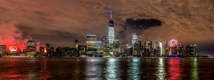 New York City på 4th Juli 201 Arkivfoto