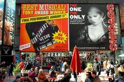 New York City : Panneaux d'affichage de Times Square Images stock