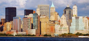 New York City Panorama royalty free stock photography