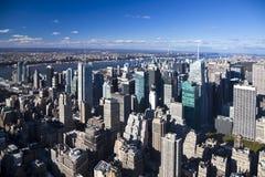 The New York City panorama Stock Photo