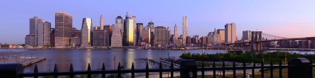 New York City Panorama. Wide angle panorama of new york city Stock Photography