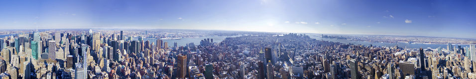 New York City panorama from the empire state Royalty Free Stock Photo