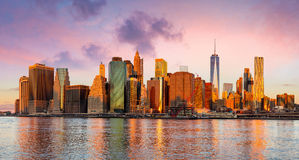 New York City Panorama - Manhattan and business district Royalty Free Stock Photos