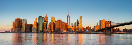 New York City Panorama - Manhattan at the early morning Stock Photo