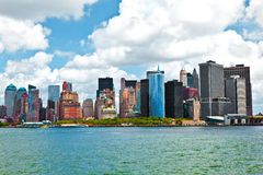 New York City panorama with Manhattan Skyline over Hudson. River royalty free stock images