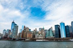New York City panorama with Manhattan Skyline over Hudson River Stock Photo