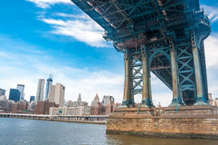 New York City panorama with Manhattan Skyline over Hudson River. Royalty Free Stock Images