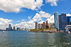 New York City panorama with Manhattan Skyline. Over Hudson River royalty free stock images