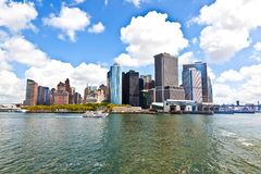 New York City panorama with Manhattan Skyline. Over Hudson River royalty free stock photography