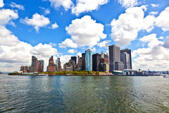 New York City panorama with Manhattan Skyline. Over Hudson River stock photography