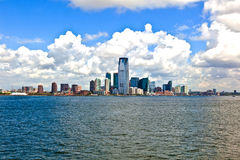 New York City panorama with Manhattan Skyline over Hudson. River royalty free stock photography