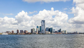 New York City panorama with Manhattan Skyline. Over Hudson River royalty free stock image