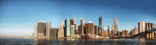 New York City panorama in the morning Royalty Free Stock Images