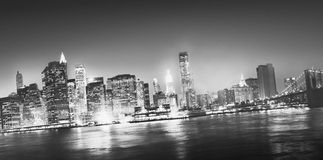 New York City Panorama Night Concept Stock Photography