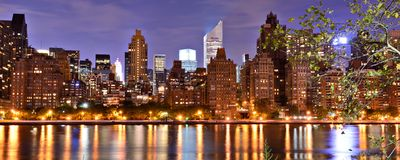 New York City Panorama Royalty Free Stock Photos
