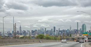 New-York city panorama taken from Queens Stock Image