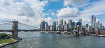 New York City panoramique image libre de droits