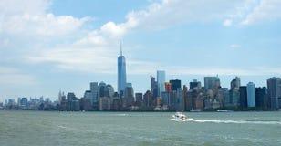 New York City panoramique, panorama Photo libre de droits