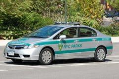 New York City parcheggia l'automobile della polizia Immagini Stock