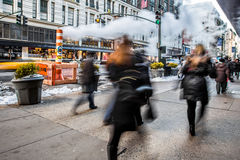 New York City Pedestrians Royalty Free Stock Photo