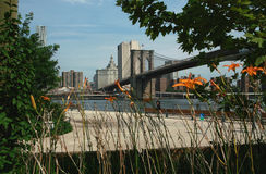 New York City Pier One Park Stock Image
